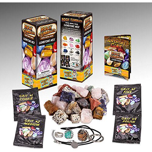 Rock Tumbler Refill - Rough Gemstones of Nine Varieties (1lb)