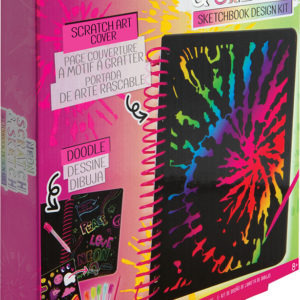 Neon Scratch & Sketch Sketchbook Design Kit