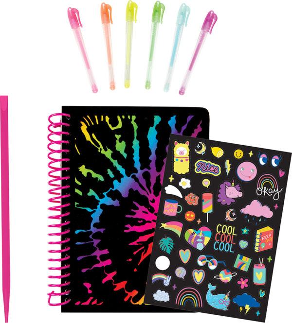Neon Scratch & Sketch Sketchbook Design Kit