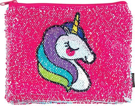 S. Lab Magic Sequin Pouch- Unicorn/Rainbow