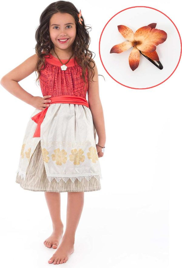 Polynesian Princess With Hair Clip - Medium