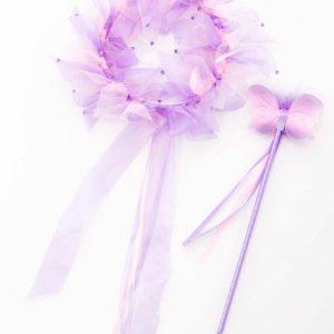 Light Pink / Lilac Fairy Halo & Wand