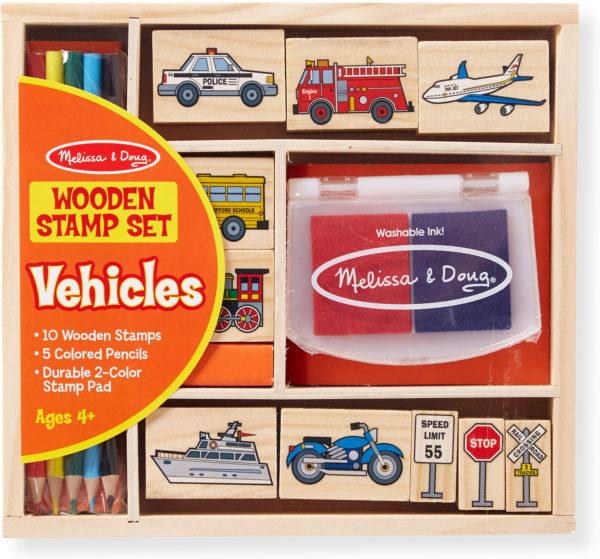 Wooden Stamp Set - Vehicles