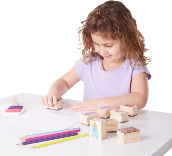 Wooden Stamp Set - Princesses