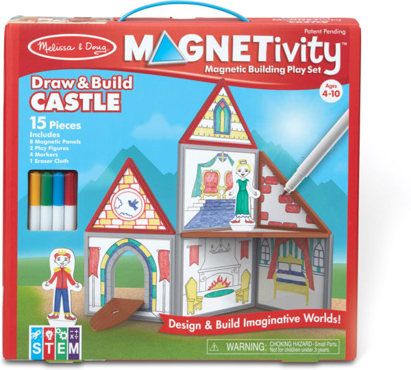 Magnetivity Magnetic Building Play Set - Draw & Build Castle