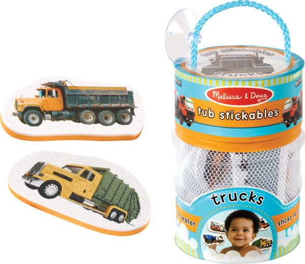 Tub Stickables - Trucks Soft Shapes Bath Toy