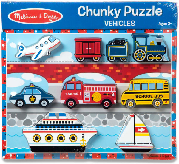 Vehicles Chunky Puzzle - 9 Pieces