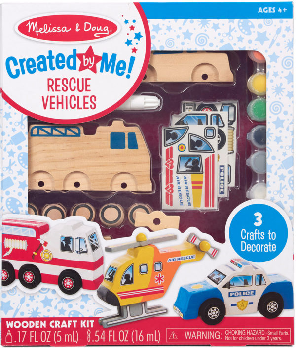 Created by Me! Rescue Vehicles Wooden Craft Kit