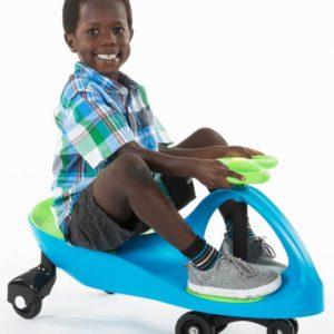 Original PlasmaCar Ride-On Vehicle - Turquoise Blue Lime Green