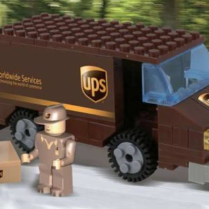 UPS 111 Piece Package Car Construction Toy