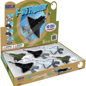 F-35 Jet Fighter Pullback W/Lights & Sound 6 Pc Counter Disp