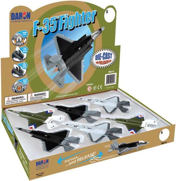F-35 Jet Fighter Pullback W/Lights & Sound 6 Pc Counter Disp