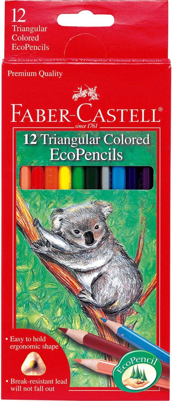 12 ct Triangular Colored EcoPencils