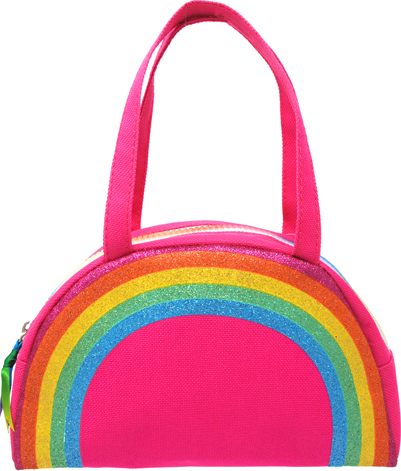 Rainbow magic bowling bag-hot pink