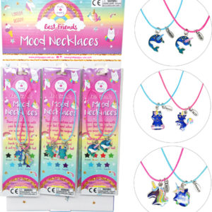 Cotton candy dreams bff mood necklaces