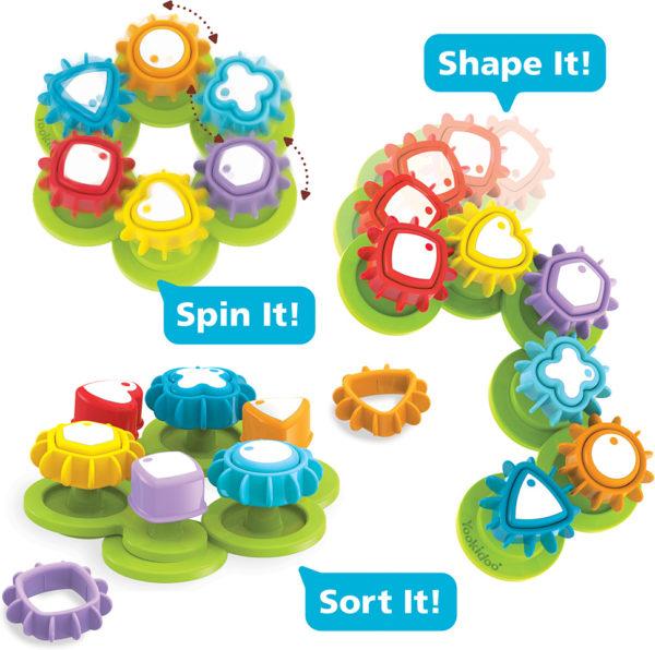 Yookidoo Shape 'N' Spin Gear Sorter