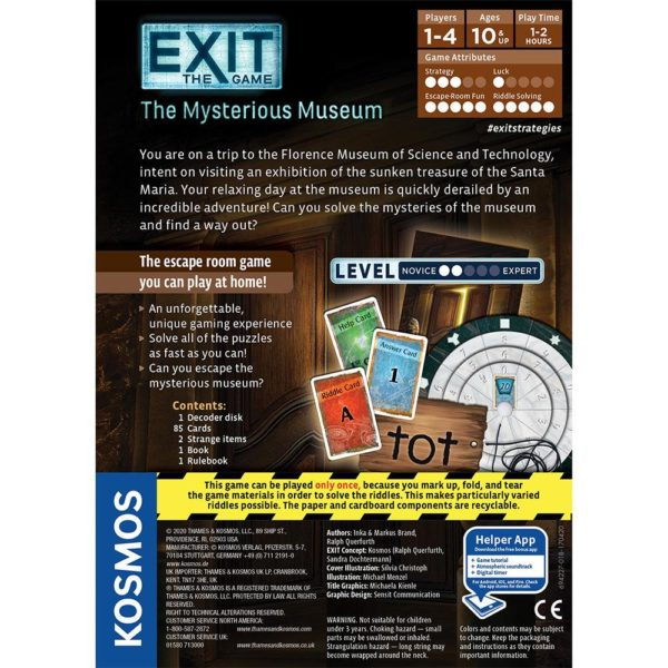 EXIT Game The Mysterious Museum