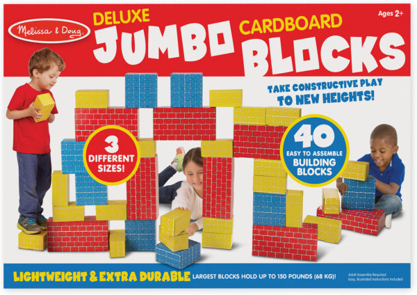 Deluxe Jumbo Cardboard Blocks - 40 Pieces