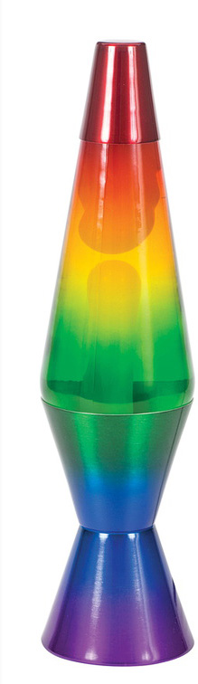 "14.5"" Rainbow Lava Lamp"