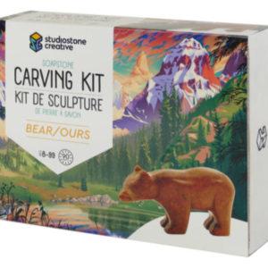 Bear Soapstone Carving Kit