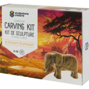 Elephant Soapstone Carving Kit
