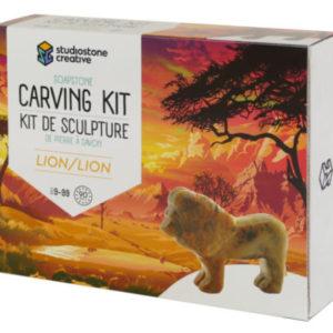 Lion Soapstone Carving Kit