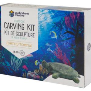 Turtle Soapstone Carving Kit