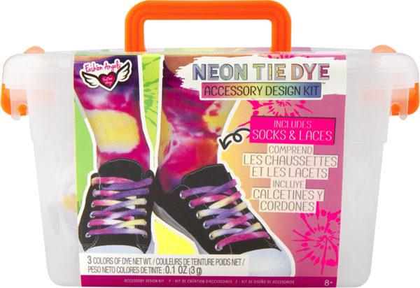 Neon Tie Dye Socks & Laces Design Keeper Crate