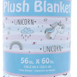 Unicorn Strips Plush Blanket