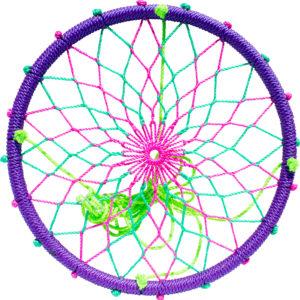 """38"""" Sky Dreamcatcher Swing-Purple Fairy"""