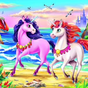 35 Pc Beach Unicorns Puzzle
