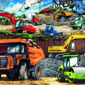 100 Pc Construction Vehicles Puzzle