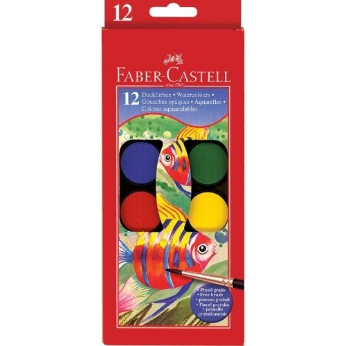 12 ct Watercolor Paint Set with brush