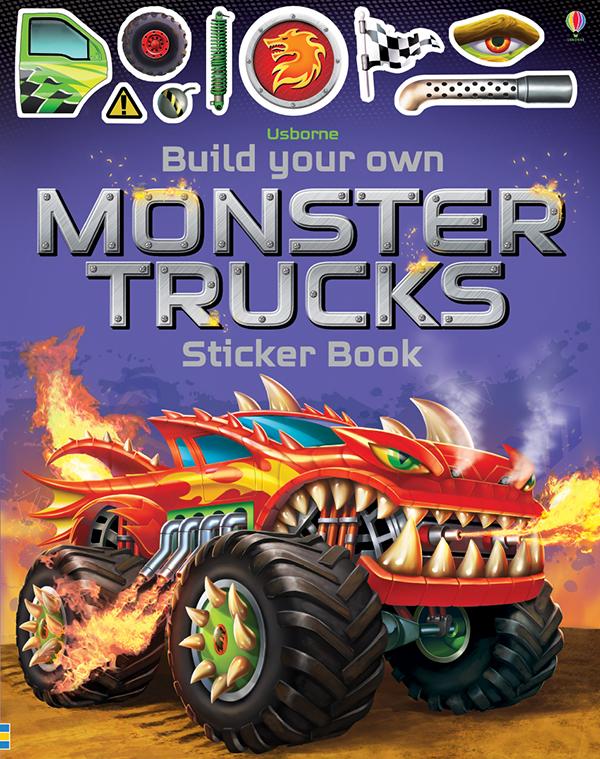 Build Your Own Monster Trucks Sticker Books