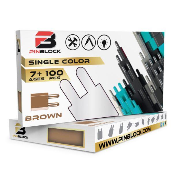 Brown Pinblock 100 pc