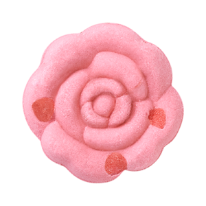 Rose Bath Fizz with Petals