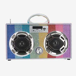 Rainbow Bling Boombox