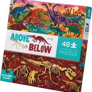 Above + Below Floor Puzzle - Dinosaur World 48 pc
