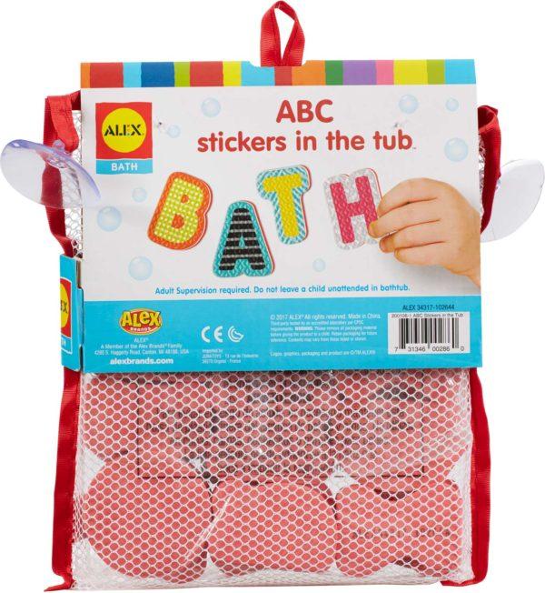 ALEX Bath ABC Stickers in the Tub