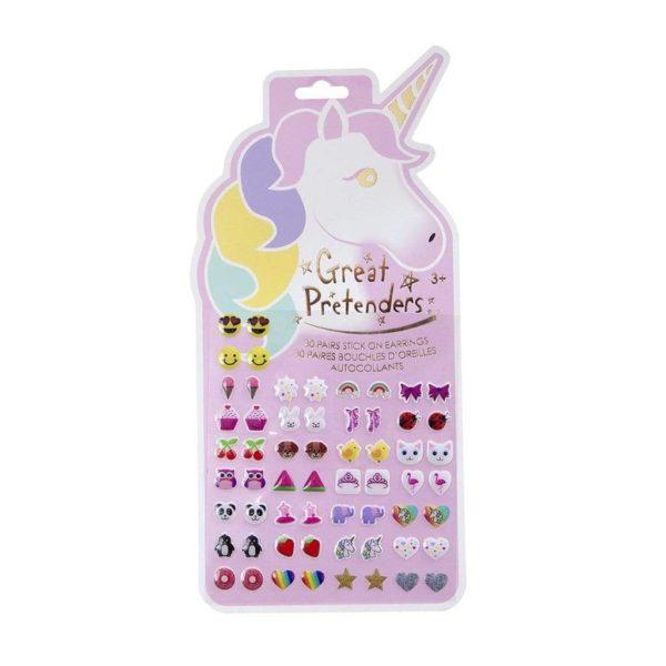 Unicorn Sticker Earrings, 30 Pairs