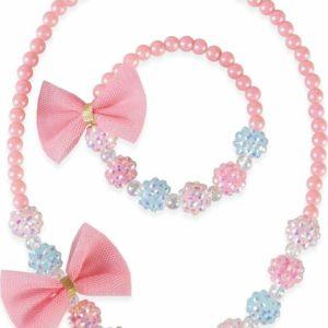 Think Pink Necklace Bracelet Set