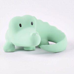 Crocodile - Natural Organic Rubber Rattle
