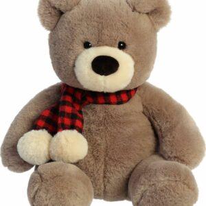 "Aurora Holiday 12"" Toffee Bear"